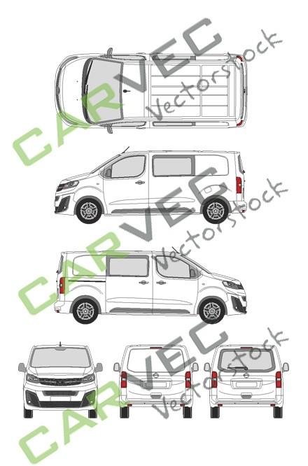 Opel Vivaro Cargo M (2019) Heckklappe Innovation teilverglast