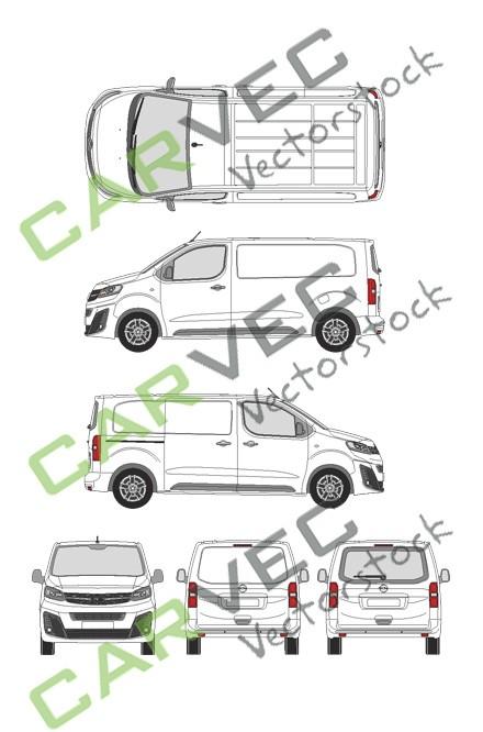 Opel Vivaro Cargo M (2019) Heckklappe Innovation Kasten