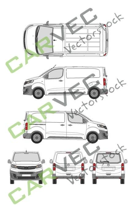 Opel Vivaro Cargo M (2019) Heckklappe Selection+Edition Kasten