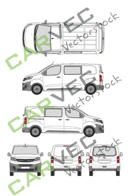 Opel Vivaro Cargo M (2019) Heckklappe Selection+Edition teilverglast