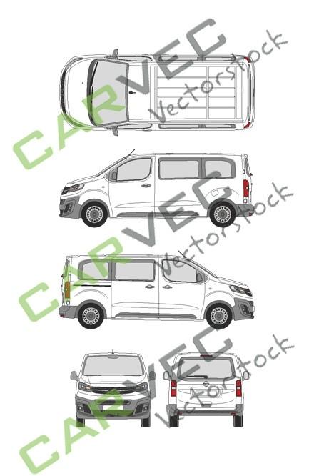 Opel Vivaro Cargo M (2019) Heckklappe Selection+Edition verglast