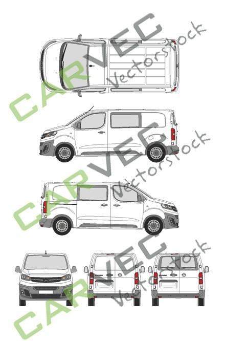 Opel Vivaro Cargo M (2019) Hecktuer Selection+Edition teilverglast