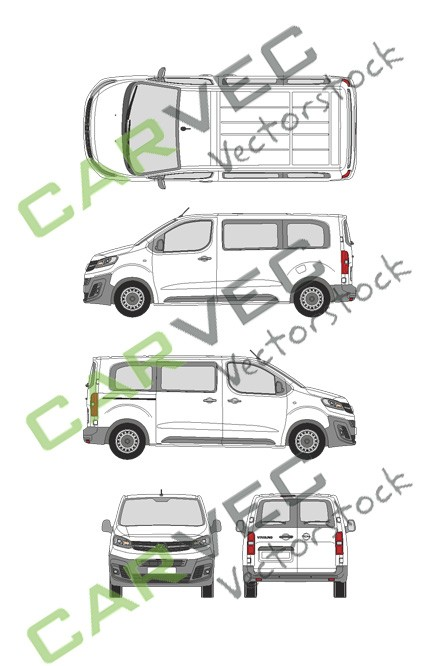 Opel Vivaro Cargo M (2019) Hecktuer Selection+Edition verglast