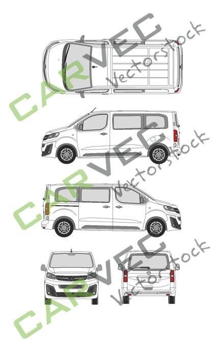 Opel Vivaro Cargo M (2019) Heckklappe Innovation verglast