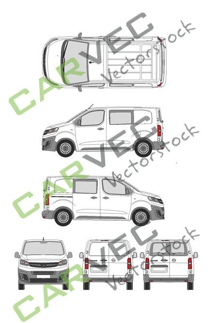 Opel Vivaro Cargo S (2019) Hecktuer Selection+Edition teilverglast