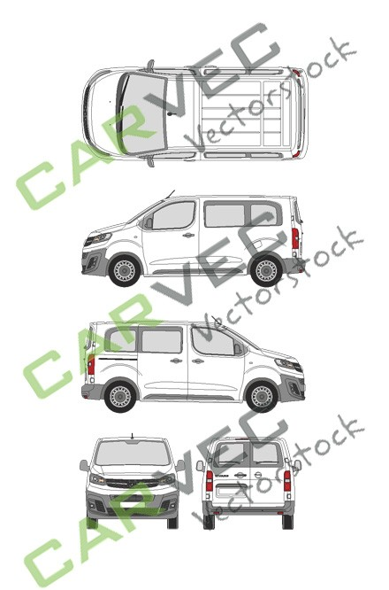 Opel Vivaro Cargo S (2019) Hecktuer Selection+Edition verglast