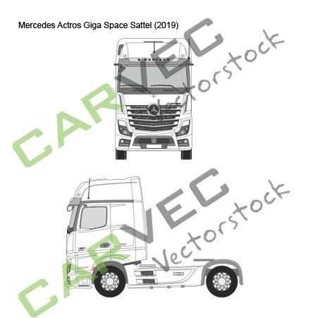 Mercedes Actros (2019) Giga Space Spoiler Sattel