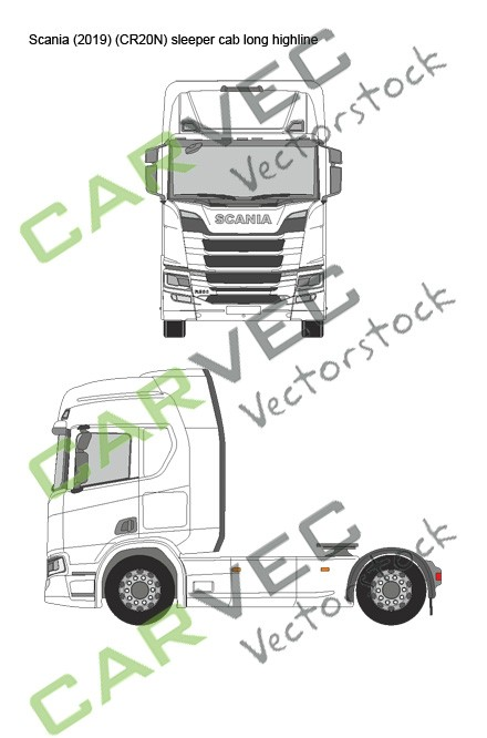 Scania R (2019) (CR20N) Sleeper Cab long Highline
