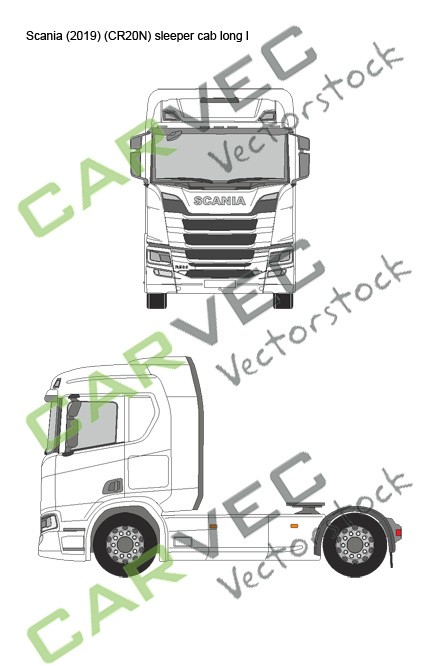 Scania R (2019) (CR20N) Sleeper Cab long normal